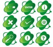 Зеленый значок Стоковое Фото