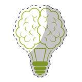 Зеленый дизайн значка мозга шарика иллюстрация вектора