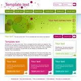 Зеленый дизайн интернет-страницы иллюстрация вектора