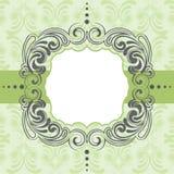 Зеленый дизайн рамки Стоковое фото RF
