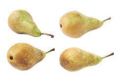 Зеленый изолированный плодоовощ груши Стоковые Фотографии RF