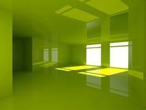 Зеленый интерьер стоковые изображения rf