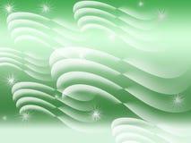 Зеленый и белый конспект Стоковые Фотографии RF