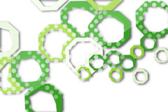 зеленый и белый шестиугольник, абстрактная предпосылка Стоковая Фотография