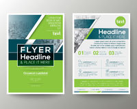 Зеленый и голубой геометрический план дизайна рогульки брошюры плаката