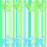 Зеленый и голубой цветочный узор Стоковое фото RF