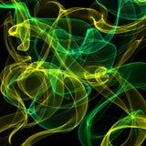 Зеленый и желтый дым abstrakt Стоковое фото RF