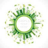 Зеленый или дружественный к эко дизайн города Стоковые Фотографии RF