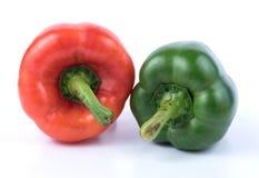 Зеленый и красный пеец Стоковые Изображения RF