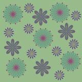 Зеленый и пурпур цветет предпосылка, приглушенные цвета Стоковые Изображения RF