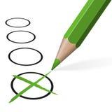 зеленый карандаш для выбора Стоковые Фото