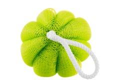 Зеленый конец губки вверх на белой предпосылке Стоковое фото RF
