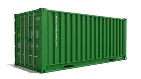 Зеленый контейнер на изолированной предпосылке бесплатная иллюстрация