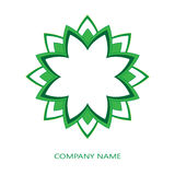 Зеленый корпоративный логотип Иллюстрация штока