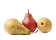 Зеленый, красный, желтый состав груш Стоковое Изображение