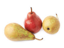 Зеленый, красный, желтый состав груш Стоковое Фото