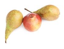Зеленый, красный, желтый состав груш Стоковые Фото