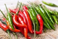 зеленый красный цвет горячего перца Стоковые Изображения