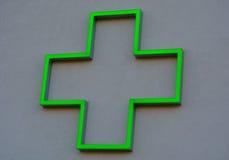 Зеленый крест Стоковое Изображение RF