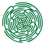 Круглый лабиринт Стоковое фото RF
