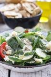 Зеленый крупный план салата весны Стоковые Изображения