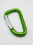 Зеленый крюк кнопки алюминия металла Стоковое Изображение