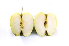 Зеленый кусок поперечного сечения Смита бабушки Яблока уменьшать свежие фрукты Стоковые Изображения RF