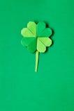 Зеленый клевер l shamrock origami Стоковые Изображения