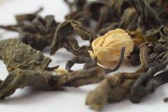 Зеленый макрос чая жасмина Стоковое фото RF