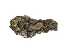Зеленый макрос чая изолированный Oolong Стоковое Фото