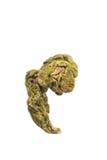 Зеленый макрос чая изолированный Oolong Стоковое Изображение