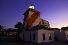 Зеленый маяк пункта, заход солнца (II) Стоковые Изображения