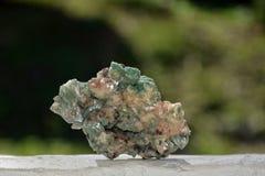 Зеленый минеральный камень кварца Стоковое фото RF