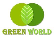 зеленый мир логоса Стоковые Фотографии RF