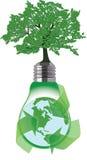 Зеленый мир регенерированный путем рециркулировать материалы Стоковое Изображение
