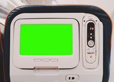 Зеленый модель-макет экрана монитора средств массовой информации в воздушных судн Стоковая Фотография RF