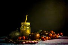 Зеленый натюрморт smoothie Стоковое Фото