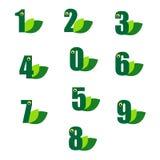 Зеленый номер Стоковое фото RF