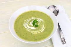 Зеленый овощной суп Стоковая Фотография RF