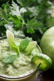 зеленый овощ smoothie Стоковая Фотография