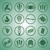 зеленый логос Стоковое Изображение RF