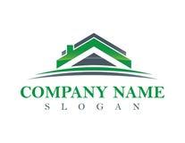 Зеленый логотип недвижимости Стоковое фото RF