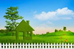 Зеленый дом иллюстрация вектора