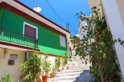 Зеленый дом в городке Samos Греция Стоковые Фотографии RF