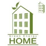 Зеленый дом квартиры энергии Стоковая Фотография RF
