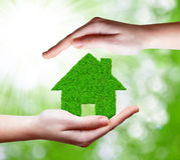 Зеленый дом Стоковые Фотографии RF