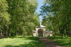 Зеленый парк города лужайки Стоковая Фотография RF