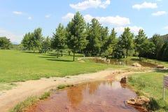 Зеленый парк для релаксации и релаксации в Болгарии - красиво Стоковое фото RF