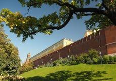 Зеленый пейзаж около большого выхода дворца Кремля, Москва, Россия Стоковое Изображение