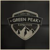 Зеленый пиковый значок экспедиции Стоковые Изображения RF